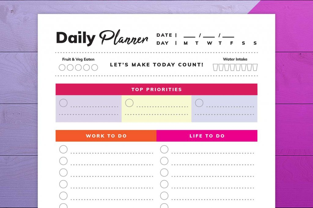 Daily Planner close-up