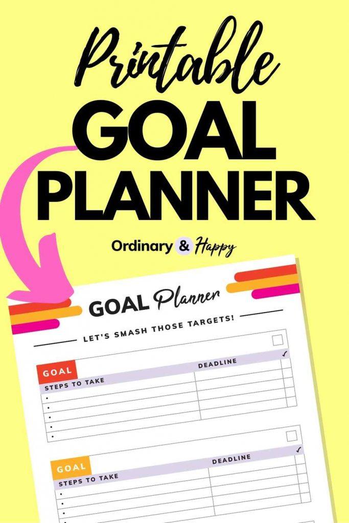 Printable Goal Planner