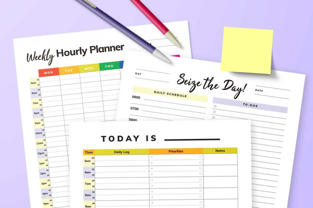 Hourly Planner Printables