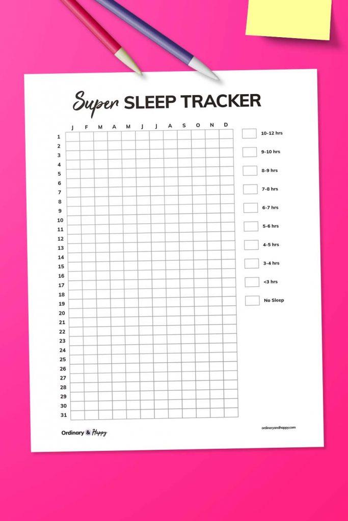 Year-Long Sleep Tracker