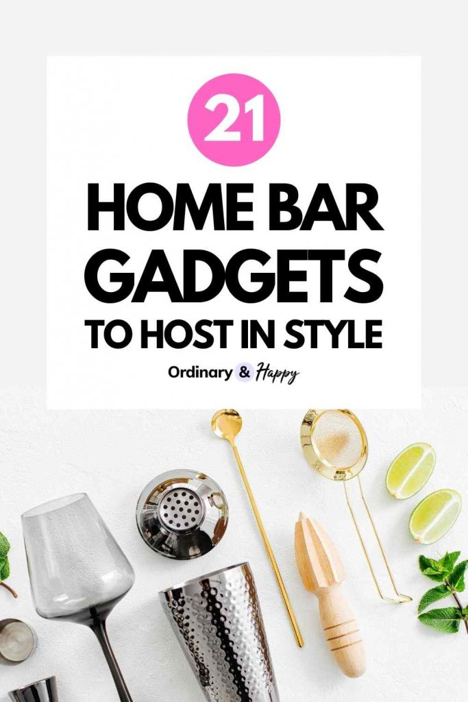 21 Home Bar Gadgets To Host in Style - Ordinary & Happy (Image)