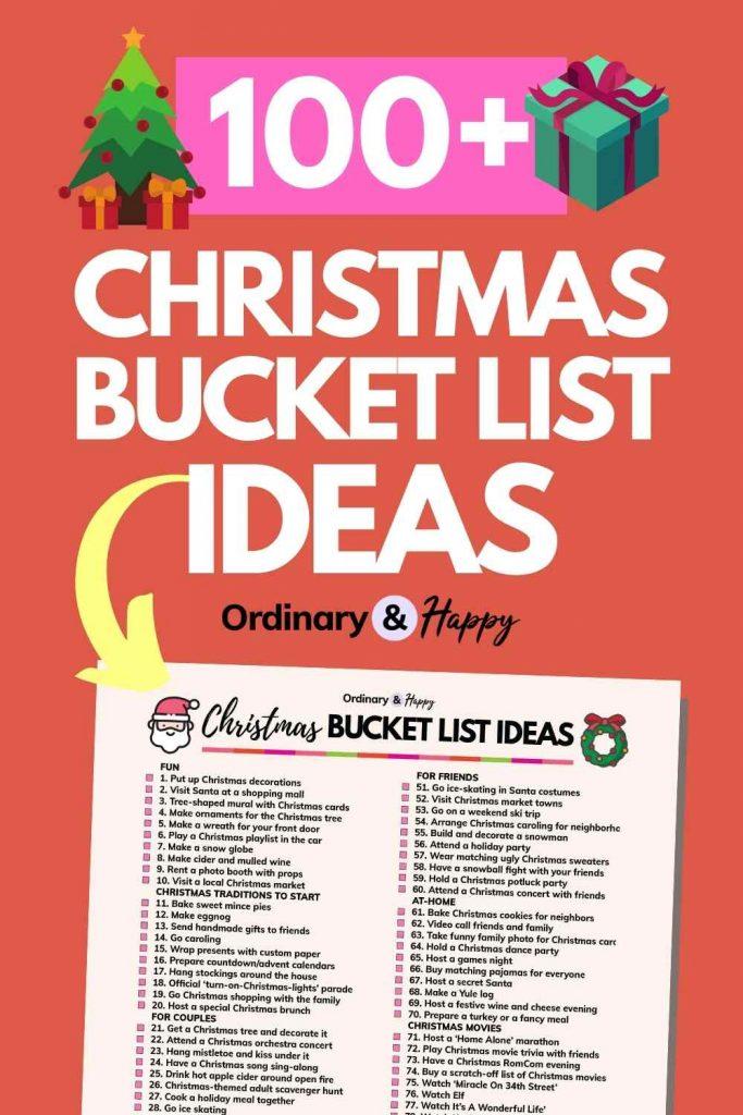 100+ Christmas Bucket List Ideas List