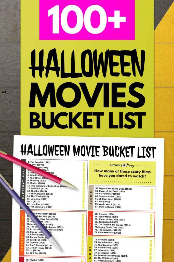 100+ Halloween Movies Bucket List