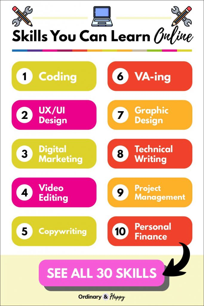 skills you can learn online