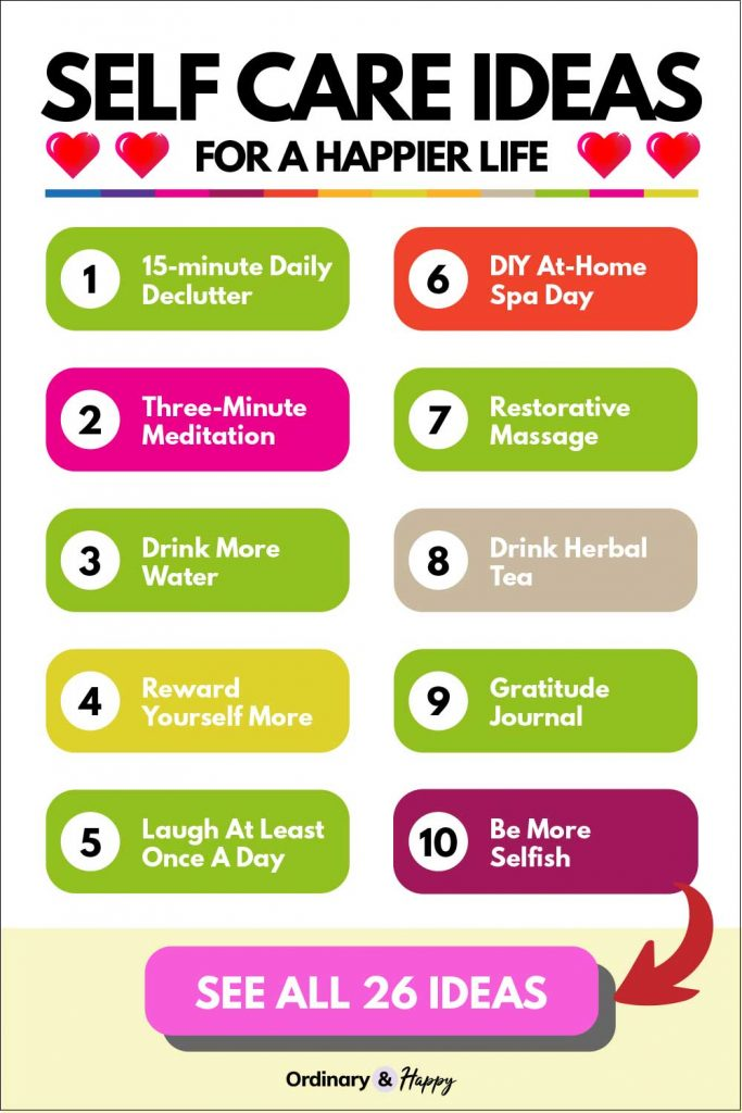 self care ideas for a happier life