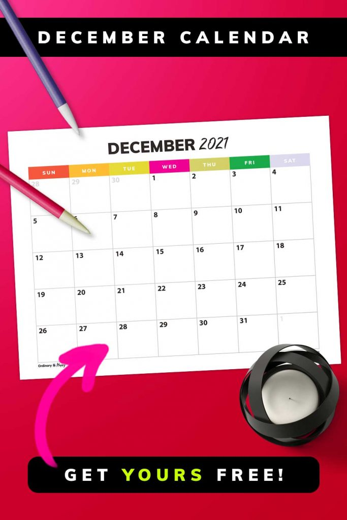 December Calendar - Get Yours Free
