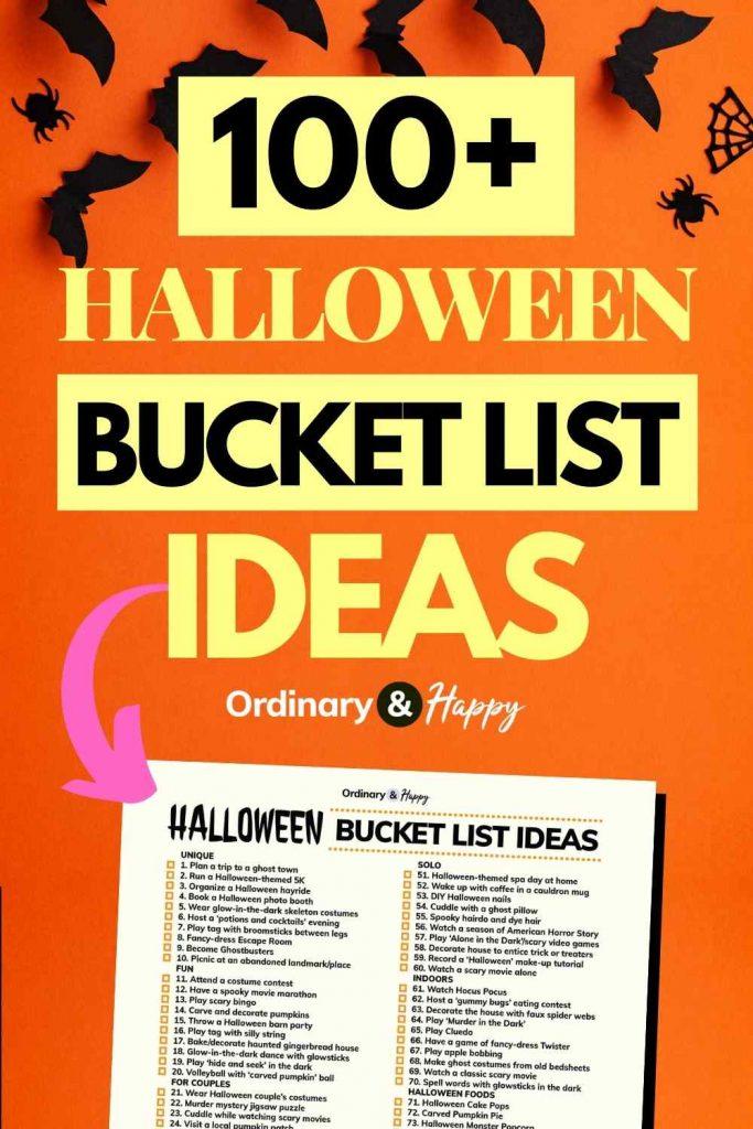 100+ Halloween bucket list ideas (image)
