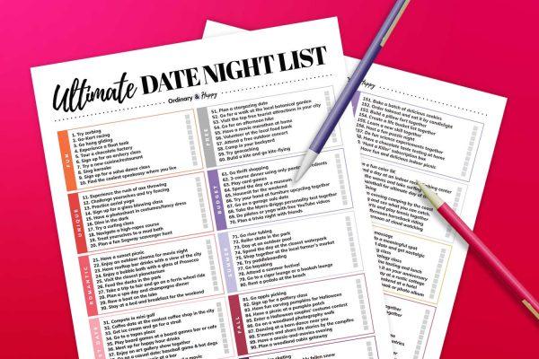 ultimate date night ideas list