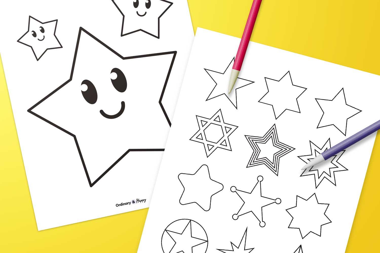 star printable template