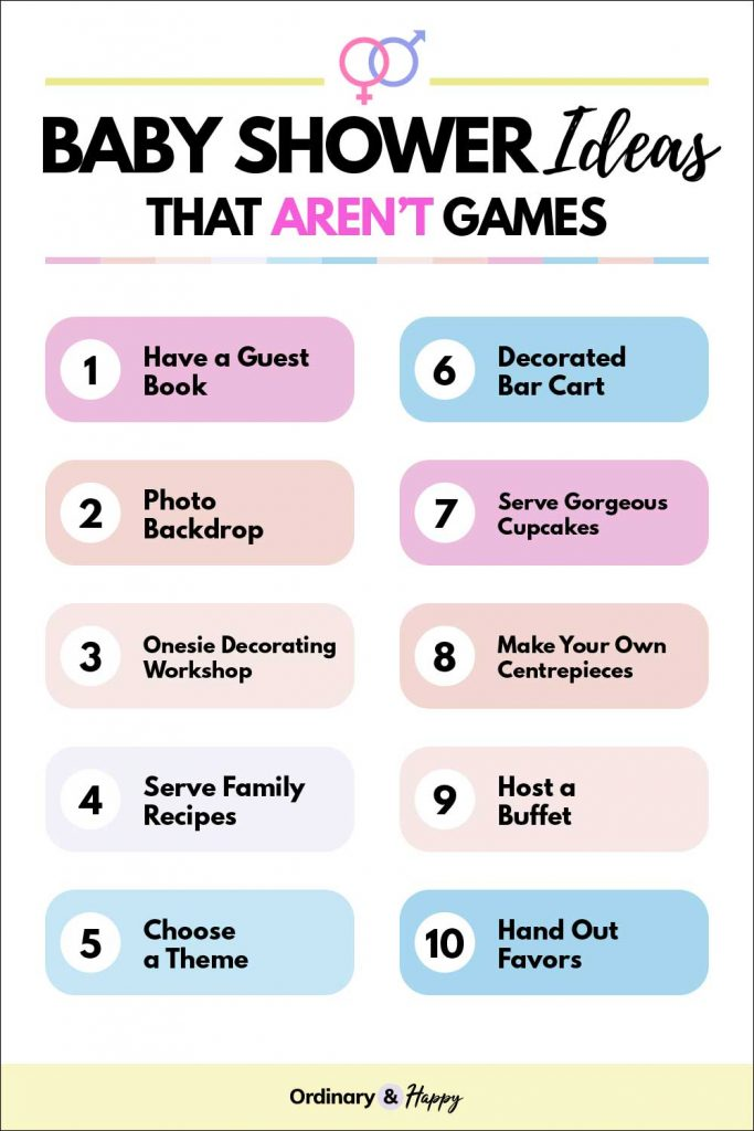 Baby Shower Ideas that Arent't Games