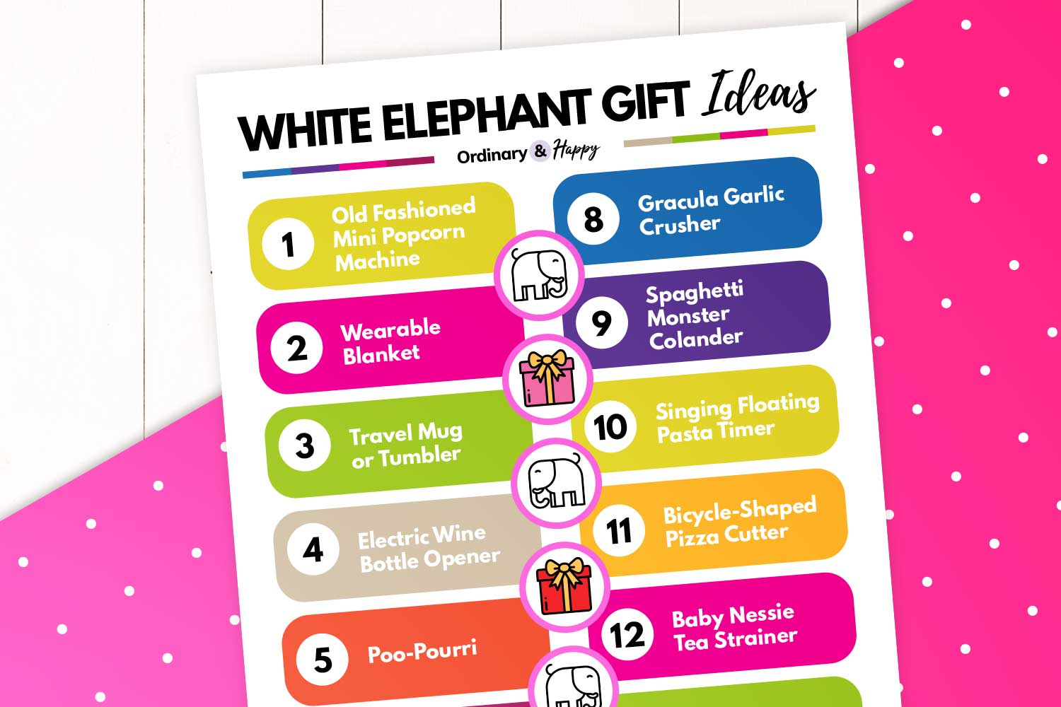 best white elephant gifts