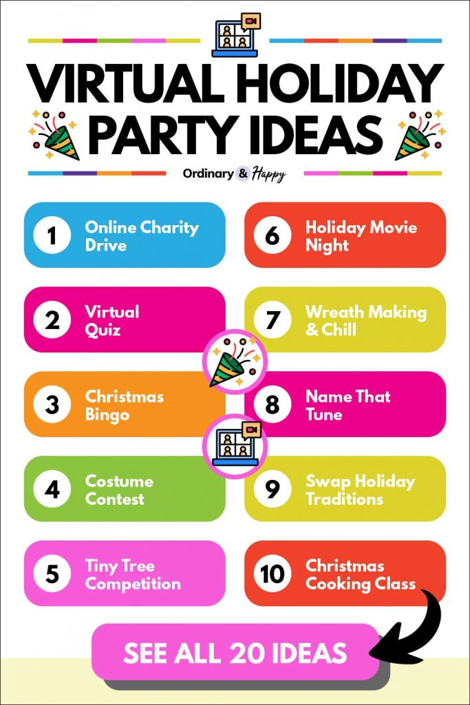 Virtual Holiday Party Ideas (list 1-10)