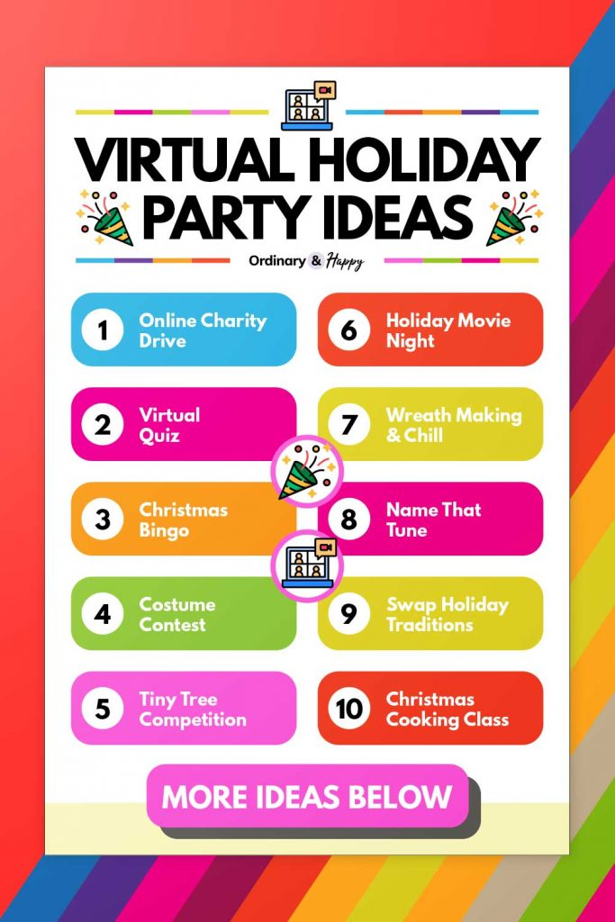 Virtual Holiday Party Ideas (List of 1-10)