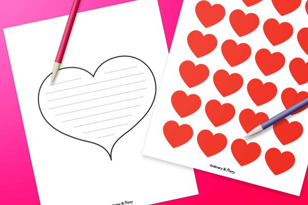heart template printable