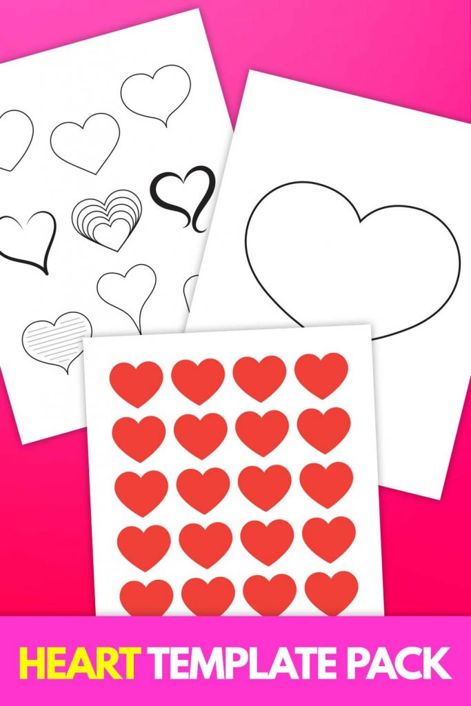 Heart Template Printable pack