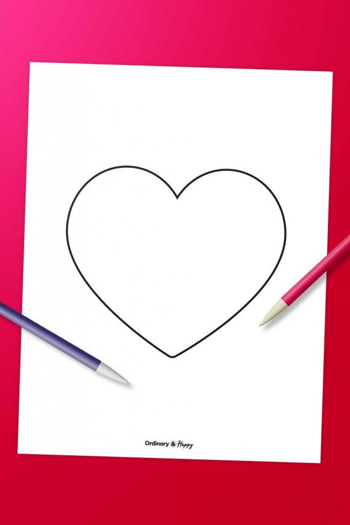 Free Heart Template Printable